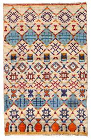 Moroccan Berber - Afghanistan Dywan 87X135 Nowoczesny Tkany Ręcznie Beżowy/Ciemnofioletowy (Wełna, Afganistan)