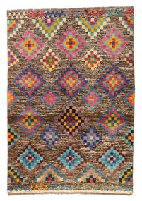 Moroccan Berber - Afghanistan Dywan 89X130 Nowoczesny Tkany Ręcznie Jasnobrązowy/Ciemnobrązowy (Wełna, Afganistan)