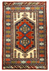 Turkmeński Dywan 61X93 Orientalny Tkany Ręcznie Czarny/Ciemnobrązowy (Wełna, Persja/Iran)