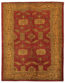 Oriental Overdyed Dywan 144X183 Nowoczesny Tkany Ręcznie Ciemnobrązowy/Ciemnoczerwony/Beżowy (Wełna, Persja/Iran)