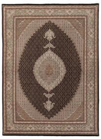 Tebriz 50 Raj Dywan 175X245 Orientalny Tkany Ręcznie Brązowy/Jasnoszary (Wełna/Jedwab, Persja/Iran)