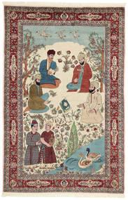 Saruk Dywan 143X213 Orientalny Tkany Ręcznie Beżowy/Ciemnobrązowy (Wełna/Jedwab, Persja/Iran)