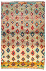 Moroccan Berber - Afghanistan Dywan 92X139 Nowoczesny Tkany Ręcznie Jasnobrązowy/Ciemnobeżowy (Wełna, Afganistan)