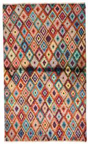 Moroccan Berber - Afghanistan Dywan 85X142 Nowoczesny Tkany Ręcznie Ciemnobrązowy/Rdzawy/Czerwony (Wełna, Afganistan)