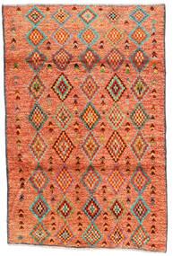 Moroccan Berber - Afghanistan Dywan 121X182 Nowoczesny Tkany Ręcznie Pomarańczowy/Czerwony/Jasnobrązowy (Wełna, Afganistan)