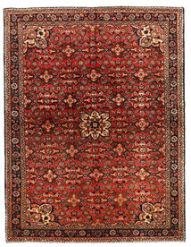 Hosseinabad Dywan 149X218 Orientalny Tkany Ręcznie Ciemnobrązowy/Ciemnoczerwony (Wełna, Persja/Iran)