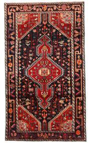 Hosseinabad Dywan 112X196 Orientalny Tkany Ręcznie Czarny/Ciemnoczerwony (Wełna, Persja/Iran)