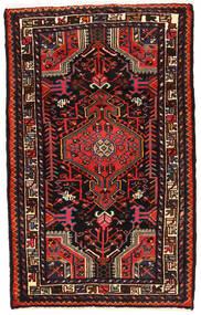 Asadabad Dywan 77X127 Orientalny Tkany Ręcznie Ciemnobrązowy/Ciemnoczerwony (Wełna, Persja/Iran)