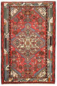 Hamadan Dywan 82X125 Orientalny Tkany Ręcznie Czarny/Ciemnobrązowy (Wełna, Persja/Iran)