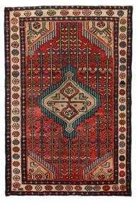 Hamadan Dywan 76X115 Orientalny Tkany Ręcznie Ciemnobrązowy/Czarny (Wełna, Persja/Iran)