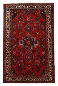 Hosseinabad Dywan 67X107 Orientalny Tkany Ręcznie Ciemnobrązowy/Ciemnoczerwony/Rdzawy/Czerwony (Wełna, Persja/Iran)