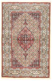 Moud Dywan 96X194 Orientalny Tkany Ręcznie Brązowy/Ciemnobeżowy (Wełna/Jedwab, Persja/Iran)