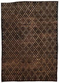 Moroccan Berber - Afghanistan Dywan 197X280 Nowoczesny Tkany Ręcznie Ciemnobrązowy/Brązowy (Wełna, Afganistan)