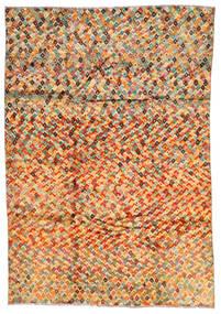 Moroccan Berber - Afghanistan Dywan 203X292 Nowoczesny Tkany Ręcznie Ciemnobeżowy/Pomarańczowy (Wełna, Afganistan)