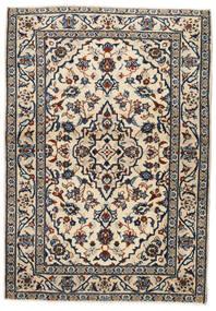 Keszan Dywan 103X146 Orientalny Tkany Ręcznie Beżowy/Czarny/Jasnoszary (Wełna, Persja/Iran)