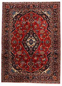 Keszan Dywan 132X183 Orientalny Tkany Ręcznie Ciemnoczerwony (Wełna, Persja/Iran)