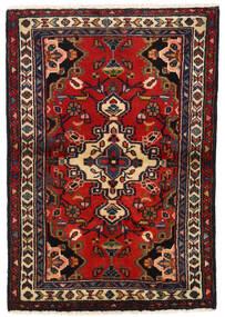Lillian Dywan 66X95 Orientalny Tkany Ręcznie Ciemnoczerwony/Ciemnobrązowy (Wełna, Persja/Iran)
