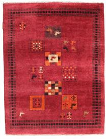 Gabbeh Loribaft Dywan 88X116 Nowoczesny Tkany Ręcznie Czerwony/Ciemnoczerwony (Wełna, Indie)