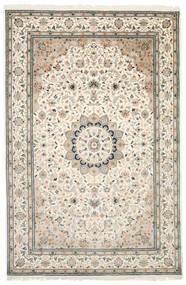 Nain Indie Dywan 200X305 Orientalny Tkany Ręcznie Beżowy/Jasnoszary ( Indie)