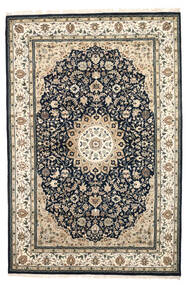 Nain Indie Dywan 204X308 Orientalny Tkany Ręcznie Beżowy/Ciemnoszary/Jasnoszary ( Indie)