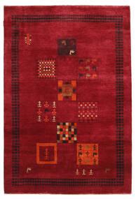 Gabbeh Loribaft Dywan 145X215 Nowoczesny Tkany Ręcznie Czerwony/Ciemnoczerwony (Wełna, Indie)