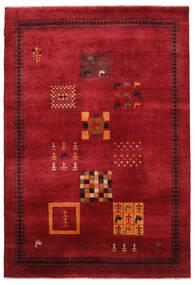 Gabbeh Loribaft Dywan 155X225 Nowoczesny Tkany Ręcznie Ciemnoczerwony/Czarny (Wełna, Indie)