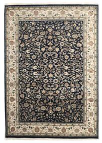 Nain Indie Dywan 172X244 Orientalny Tkany Ręcznie Ciemnoszary/Jasnoszary ( Indie)