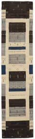 Loribaf Loom Dywan 80X345 Nowoczesny Tkany Ręcznie Chodnik Czarny/Ciemnobeżowy (Wełna, Indie)