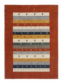 Loribaf Loom Dywan 167X233 Nowoczesny Tkany Ręcznie Ciemnoczerwony/Beżowy (Wełna, Indie)