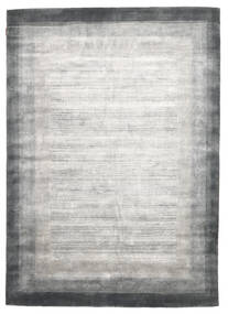 Loribaf Loom Dywan 204X300 Nowoczesny Tkany Ręcznie Jasnoszary/Biały/Creme (Wełna, Indie)