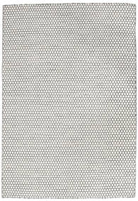 Kilim Long Stitch - Cream/Czarny Dywan 160X230 Nowoczesny Tkany Ręcznie Jasnoszary/Beżowy (Wełna, Indie)