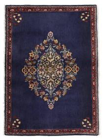Keszan Dywan 68X96 Orientalny Tkany Ręcznie Ciemnofioletowy/Ciemnobrązowy (Wełna, Persja/Iran)