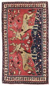 Asadabad Dywan 57X98 Orientalny Tkany Ręcznie Czarny/Ciemnoczerwony (Wełna, Persja/Iran)