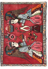 Asadabad Sygnowany: Salar Mohammad Dywan 55X78 Orientalny Tkany Ręcznie Czarny/Ciemnoczerwony (Wełna, Persja/Iran)