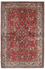 Saruk Dywan 132X206 Orientalny Tkany Ręcznie Ciemnoczerwony/Ciemnobrązowy (Wełna, Persja/Iran)