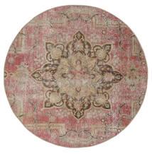 Vintage Heritage Dywan Ø 170 Nowoczesny Tkany Ręcznie Okrągły Brązowy/Jasnoszary (Wełna, Persja/Iran)