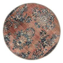 Vintage Heritage Dywan Ø 100 Nowoczesny Tkany Ręcznie Okrągły Jasnobrązowy/Czarny (Wełna, Persja/Iran)