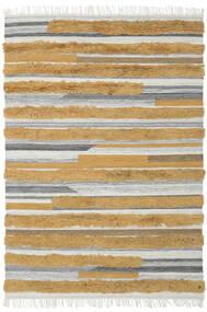 Sunny - Żółty Dywan 160X230 Nowoczesny Tkany Ręcznie Brązowy/Jasnoszary (Wełna, Indie)