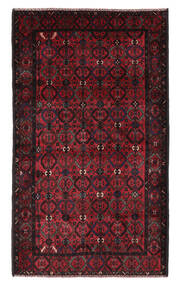 Beludż Dywan 115X196 Orientalny Tkany Ręcznie Czarny/Ciemnoczerwony (Wełna, Afganistan)