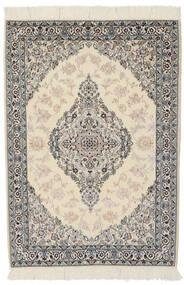 Nain 9La Dywan 100X146 Orientalny Tkany Ręcznie Ciemnoszary/Jasnobrązowy (Wełna/Jedwab, Persja/Iran)