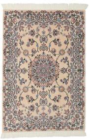 Nain 9La Dywan 99X145 Orientalny Tkany Ręcznie Jasnobrązowy/Czarny (Wełna/Jedwab, Persja/Iran)