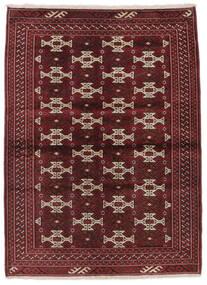 Turkmeński Dywan 103X139 Orientalny Tkany Ręcznie Czarny/Ciemnobrązowy (Wełna, Persja/Iran)