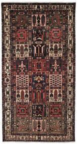 Baktjar Dywan 157X297 Orientalny Tkany Ręcznie Chodnik Czarny/Ciemnobrązowy (Wełna, Persja/Iran)