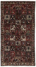 Baktjar Dywan 161X306 Orientalny Tkany Ręcznie Chodnik Czarny/Ciemnobrązowy (Wełna, Persja/Iran)