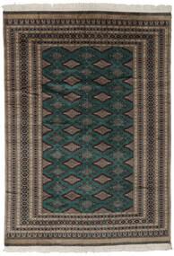 Pakistański Bucharski 2Ply Dywan 180X256 Orientalny Tkany Ręcznie Czarny/Ciemnobrązowy (Wełna, Pakistan)