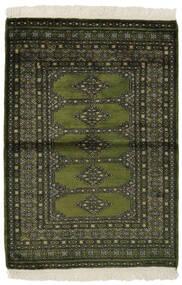 Pakistański Bucharski 3Ply Dywan 99X145 Orientalny Tkany Ręcznie Czarny/Ciemnozielony (Wełna, Pakistan)