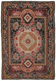 Kilim Rose Moldavia Dywan 216X306 Orientalny Tkany Ręcznie Ciemnobrązowy/Czarny (Wełna, Mołdawia)