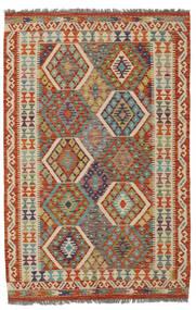 Kilim Afgan Old Style Dywan 126X189 Orientalny Tkany Ręcznie Ciemnozielony/Ciemnobrązowy (Wełna, Afganistan)
