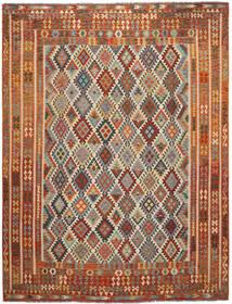 Kilim Afgan Old Style Dywan 304X397 Orientalny Tkany Ręcznie Ciemnobrązowy/Czarny Duży (Wełna, Afganistan)