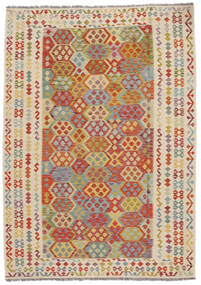 Kilim Afgan Old Style Dywan 207X292 Orientalny Tkany Ręcznie (Wełna, Afganistan)